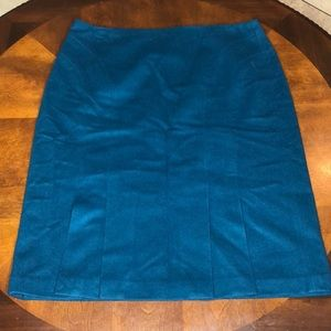Loft 100% Wool Pleated Pencil Skirt Size 12